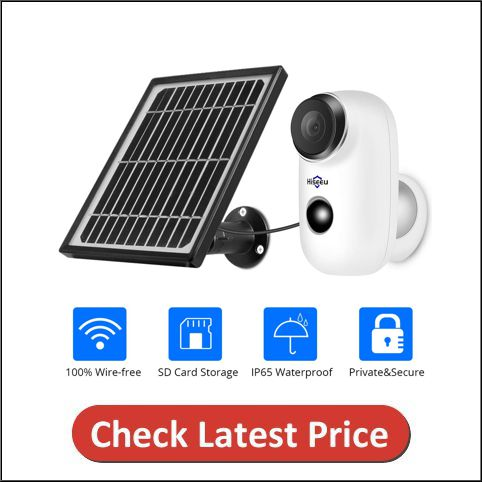 Hiseeu Solar Camera,1080P Outdoor Security Camera