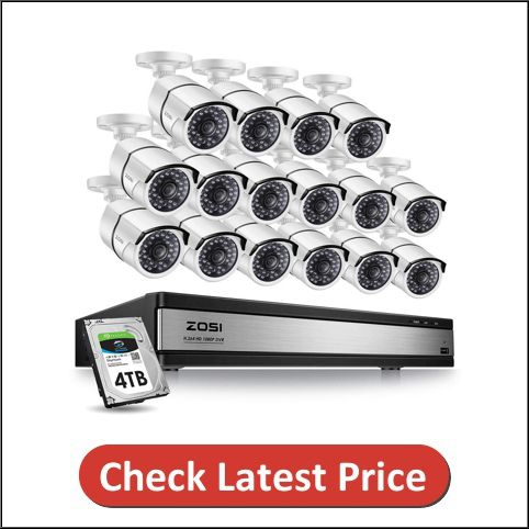 ZOSI 1080p 16 Channel Video Surveillance System