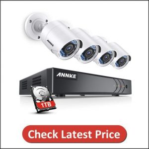 ANNKE 8CH 3MP Surveillance Camera System with DVR