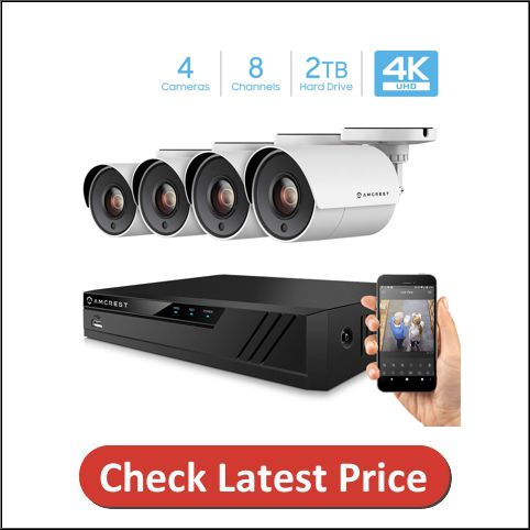 Amcrest 4K 8CH Security Camera System with DVR