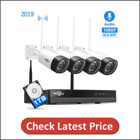 Hiseeu Wireless Security Camera System with NVR