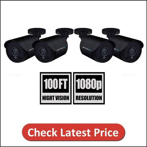 Night Owl 1080P 4 Pack Add-On Wired Bullet Cameras
