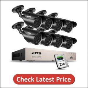 ZOSI 8CH Full 1080p HD-TVI Security Camera System