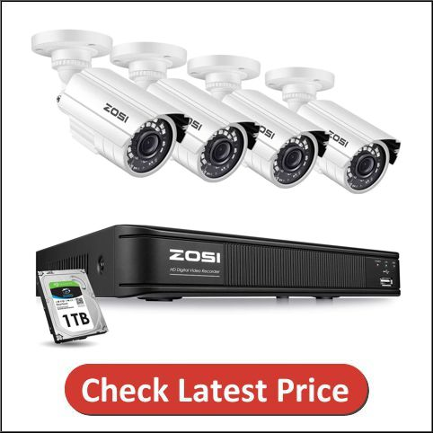 ZOSI Home Outdoor Indoor Security Camera System with DVR
