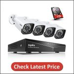 SANNCE 1080P POE Security Camera System