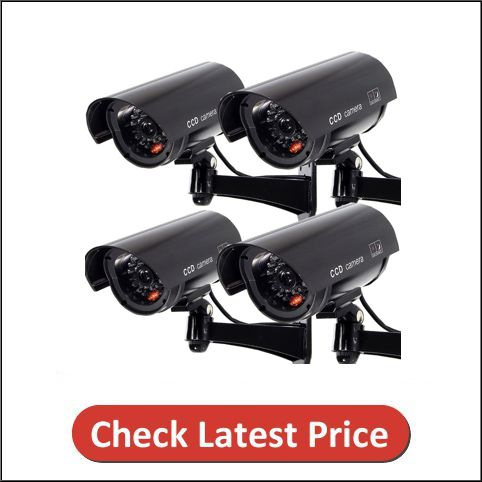 F FINDERS&CO Outdoor Fake Security Camera, Dummy CCTV Surveillance System
