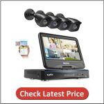 SANNCE All-in-One 4CH 1080P Wired Security Camera System