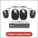 Swann 8 Channel 4 Wired Surveillance 1080p HD Camera Security System